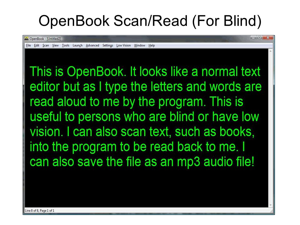 OpenBook Scan/Read (For Blind)