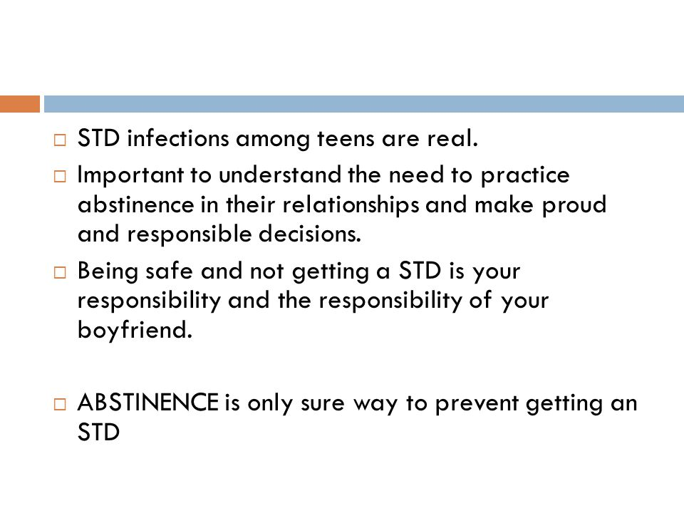  STD infections among teens are real.