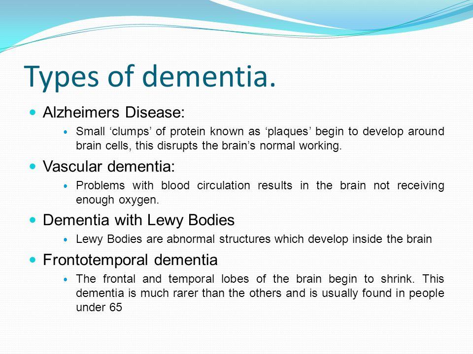 Causes of dementia Alzheimer s disease.