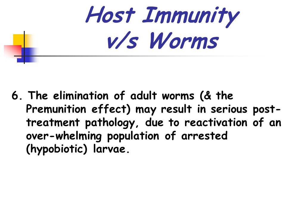 Host Immunity v/s Worms 6.