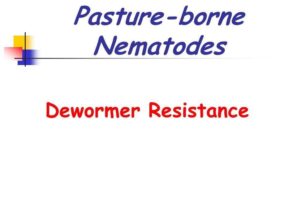 Pasture-borne Nematodes Dewormer Resistance