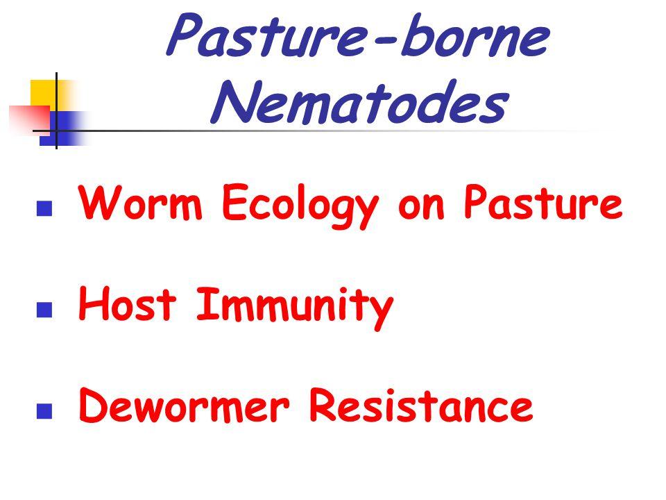 Pasture-borne Nematodes Worm Ecology on Pasture