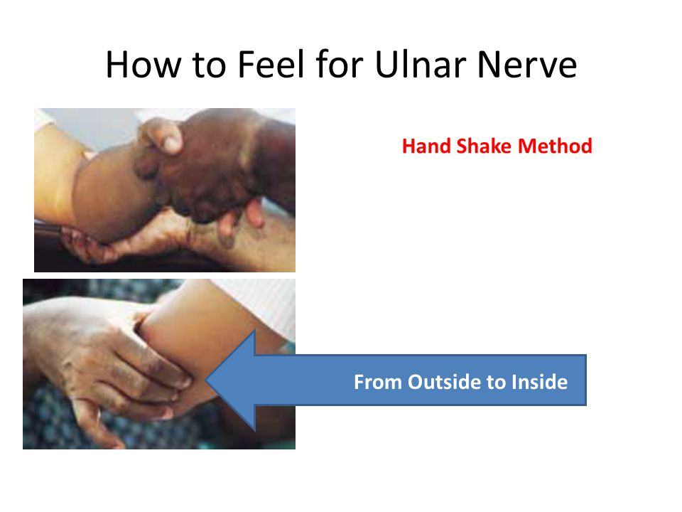 How to Feel for Ulnar Nerve Hand Shake Method From Outside to Inside