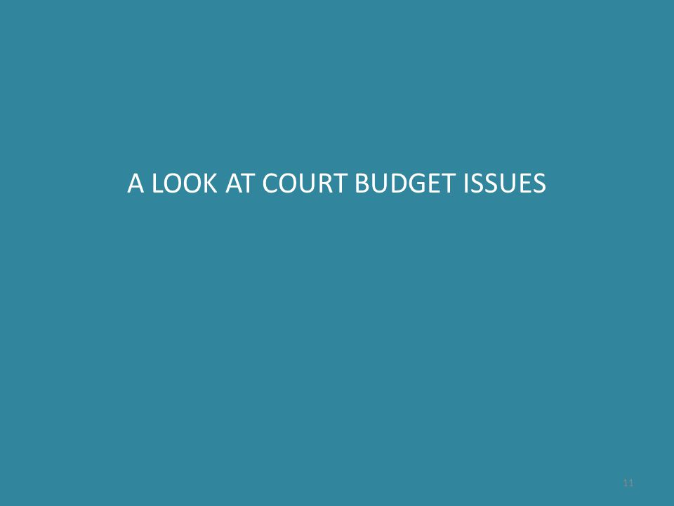 A LOOK AT COURT BUDGET ISSUES 11