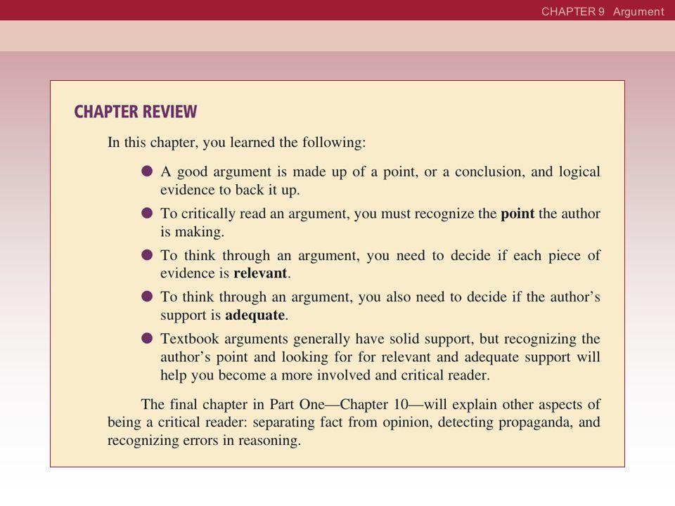 CHAPTER 9 Argument