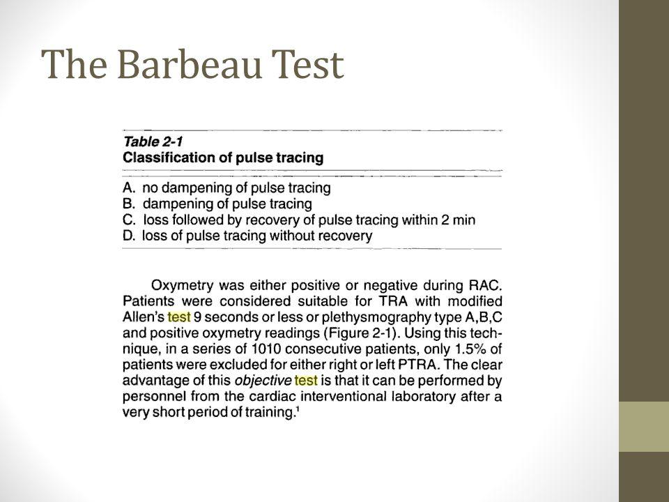 The Barbeau Test