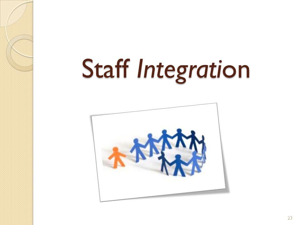 Staff Integration 23
