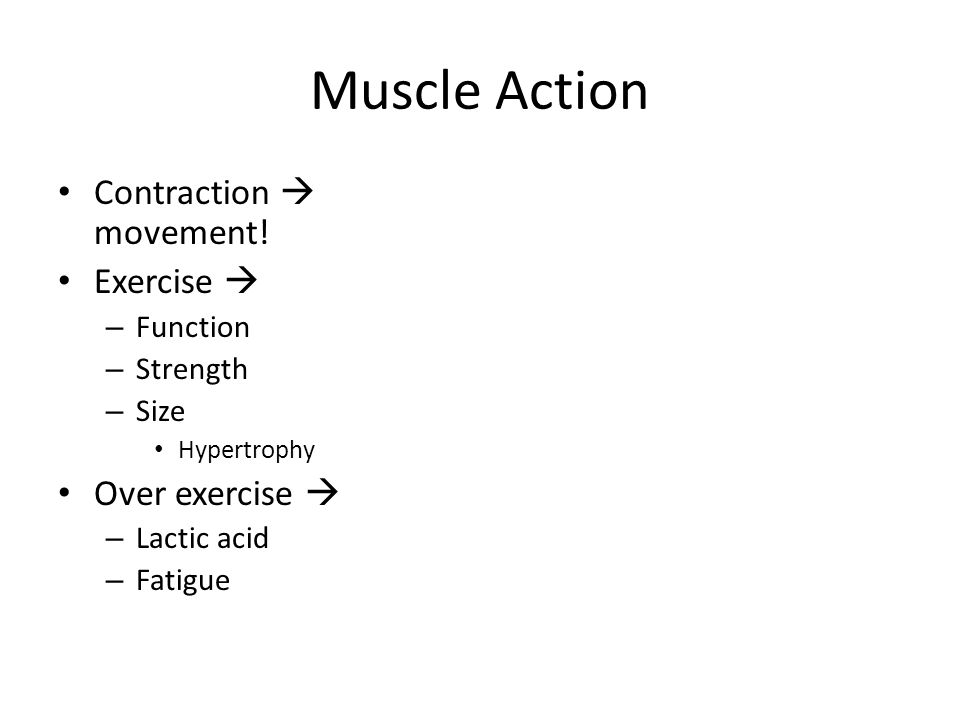 Muscle Action Contraction  movement.