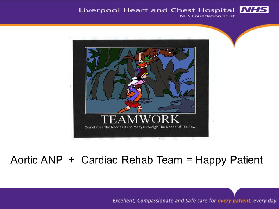 Aortic ANP + Cardiac Rehab Team = Happy Patient