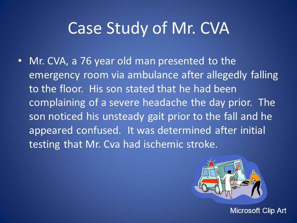 Case Study of Mr. CVA Mr.