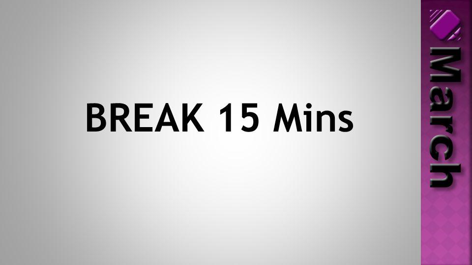 BREAK 15 Mins