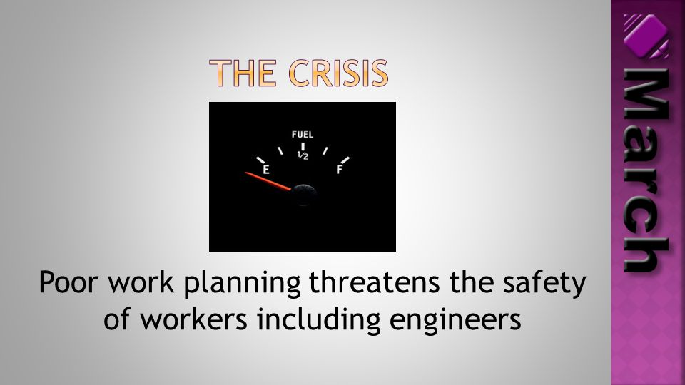 Poor work planning threatens the safety of workers including engineers