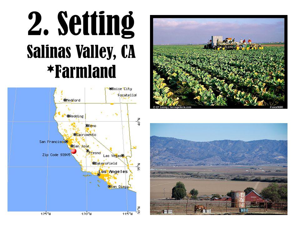 2. Setting Salinas Valley, CA *Farmland