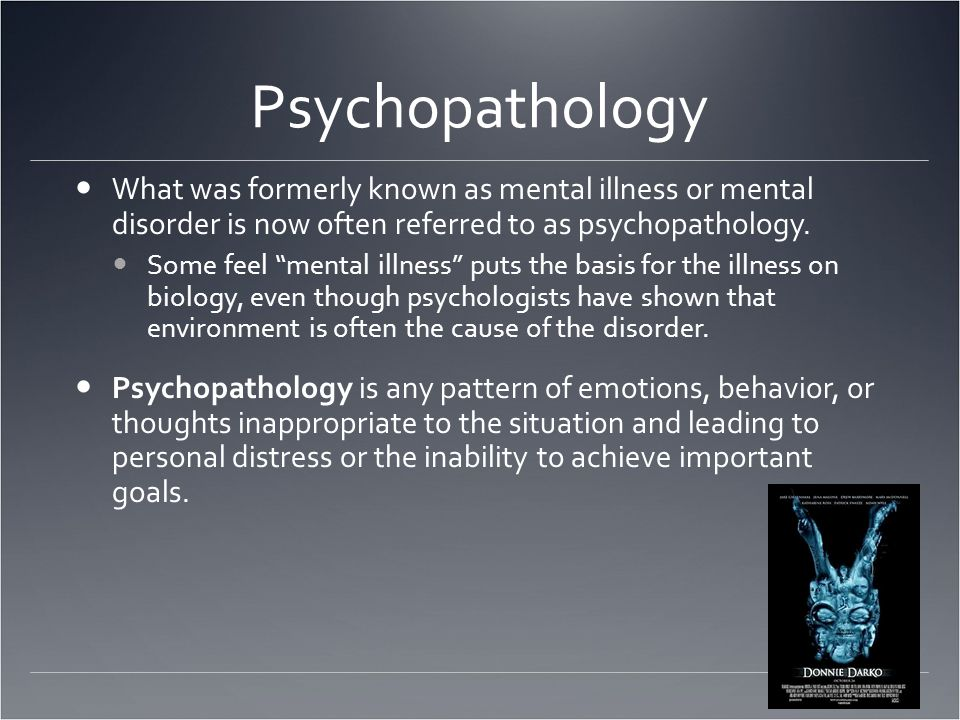Psychological Disorders/Abnormal Psych  Psychological disorders are incurable  People with psychological disorders are dangerous  People with psychological disorders behave bizarrely & are very different from normal people Stereotypes & Stigma What effect do these have on the likelihood of someone truly suffering seeking help?