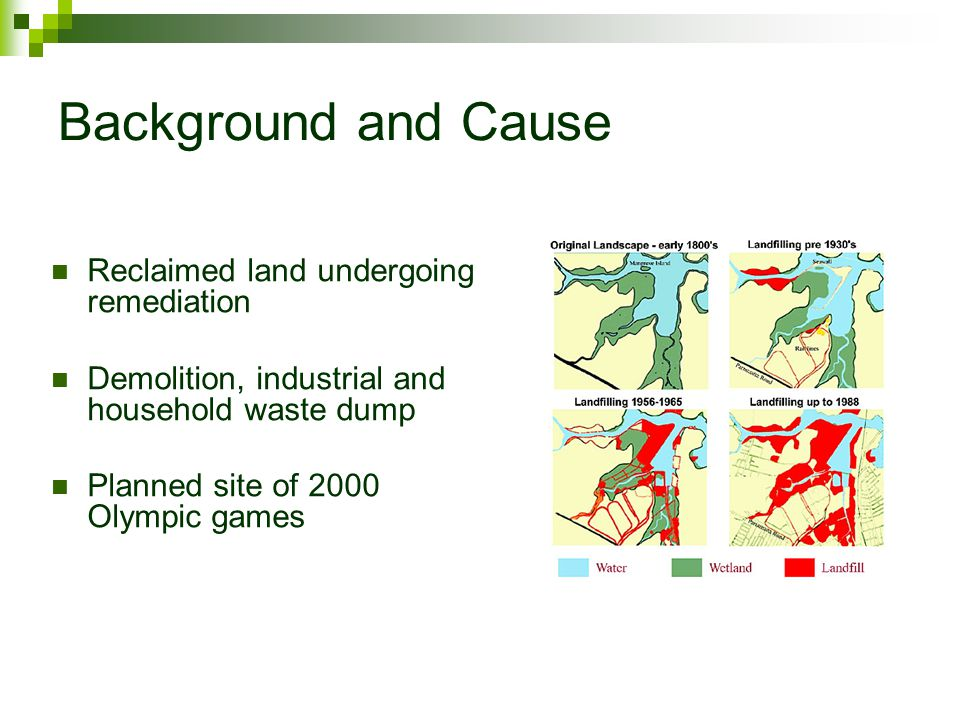 Issues 760 hectares of which 202 hectares contaminated.