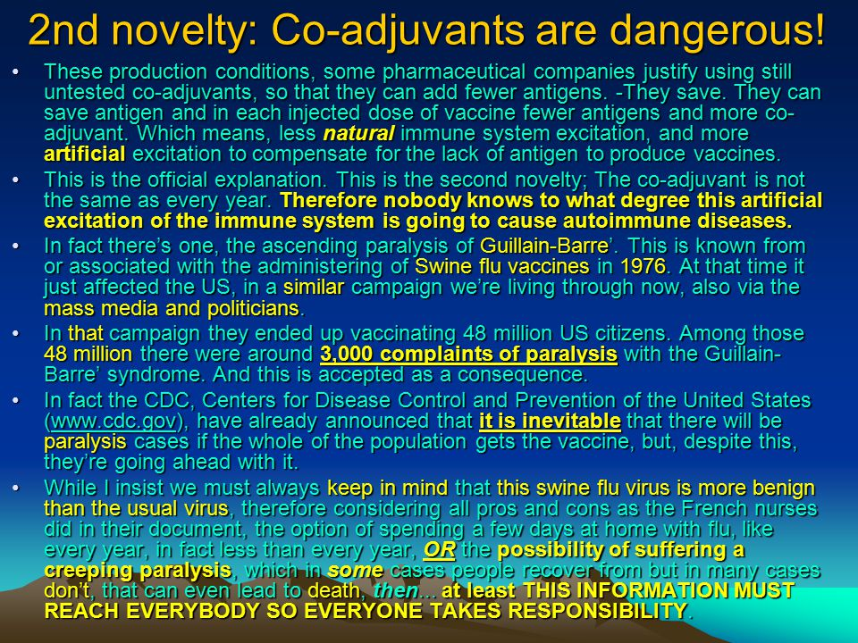 2nd novelty: The Anthrax Co-adjuvants.