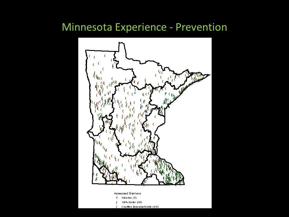 Minnesota Experience - Prevention