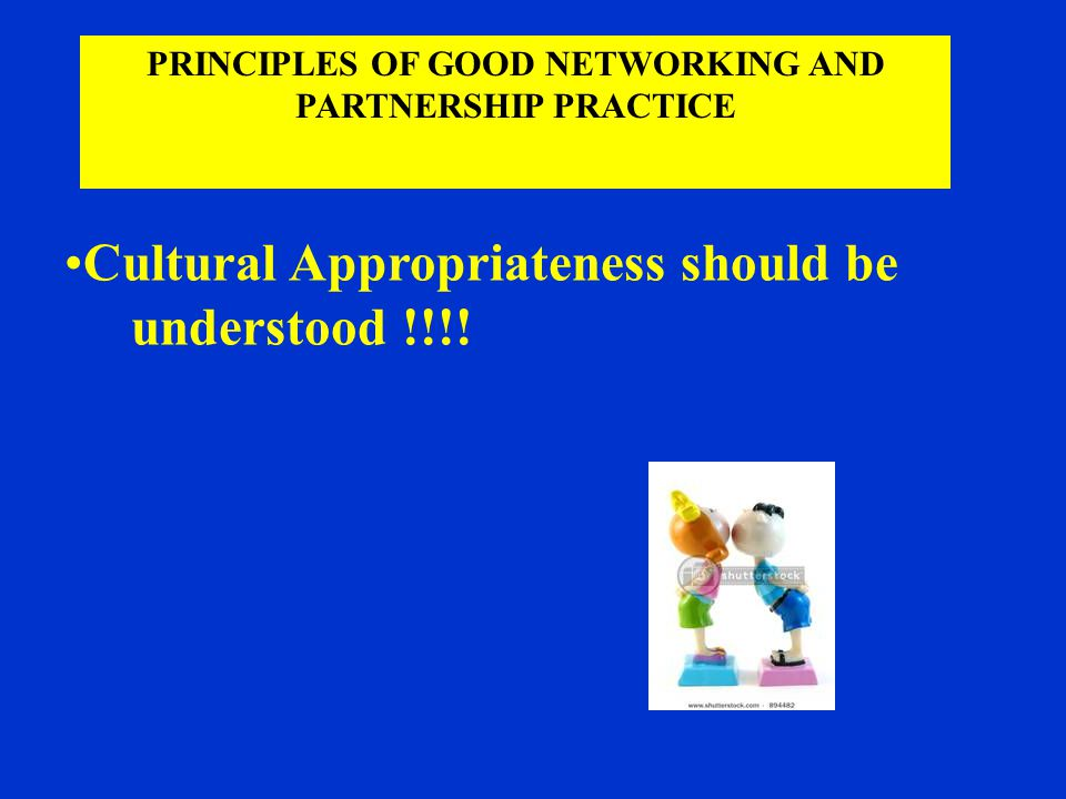 Cultural Appropriateness should be understood !!!.