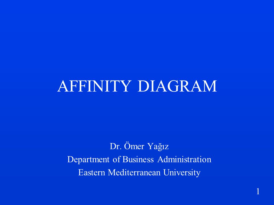 2 What is Affinity Diagram.