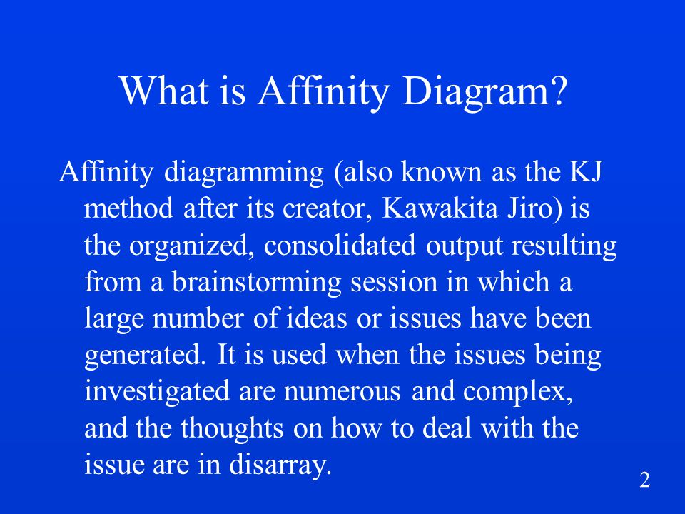 3 What is Affinity Diagram.contd...