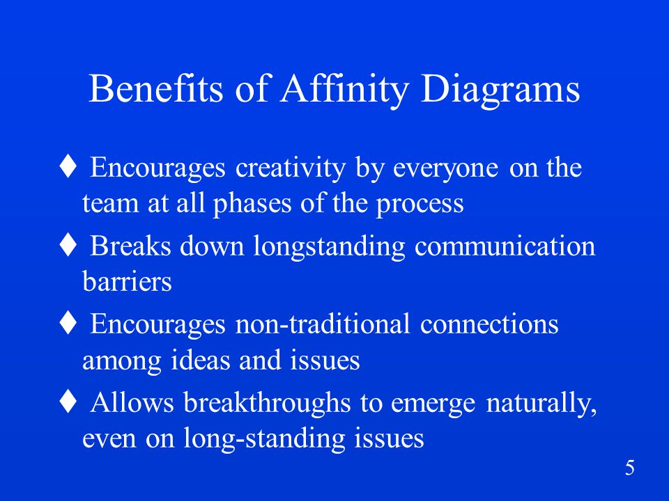 6 Benefits of Affinity Diagrams contd...