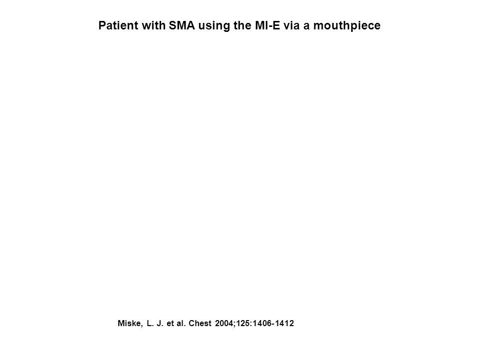 Miske, L. J. et al. Chest 2004;125:1406-1412 Patient with SMA using the MI-E via a mouthpiece
