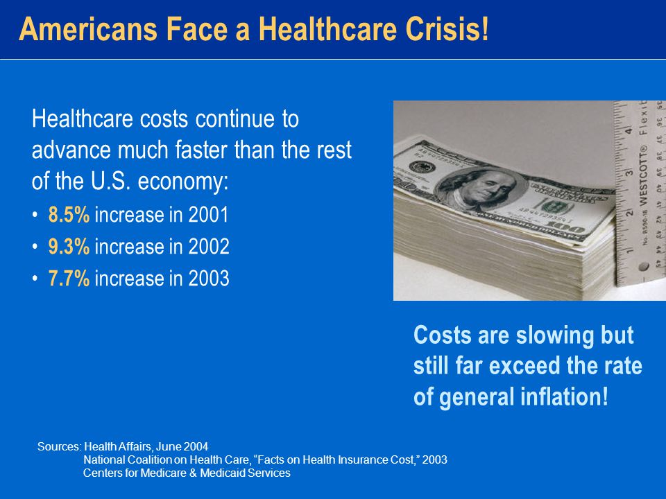 The Cost of Health Care Insurance premiums have risen at a rate even greater than the rate of health- care inflation.