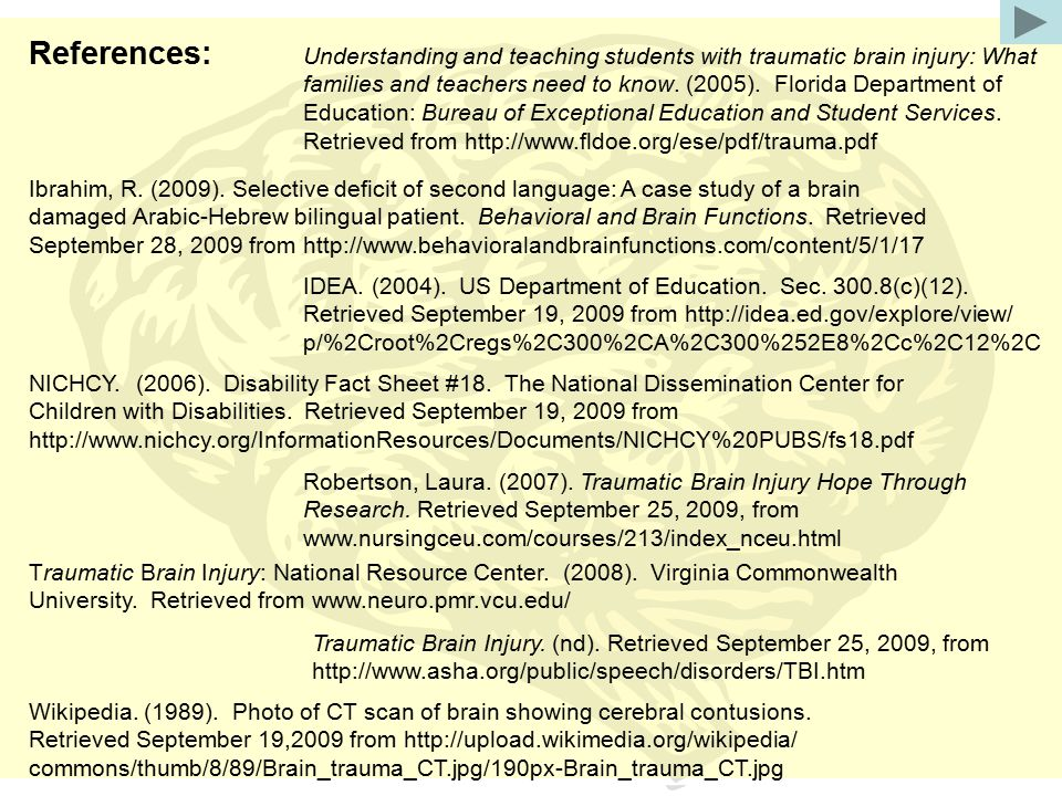 References: IDEA. (2004). US Department of Education.