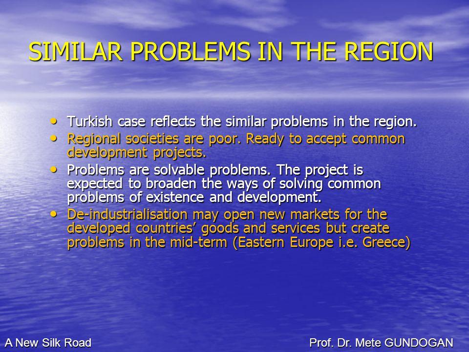 SIMILAR PROBLEMS IN THE REGION Turkish case reflects the similar problems in the region.