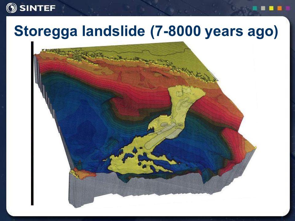 8 Storegga landslide (7-8000 years ago)