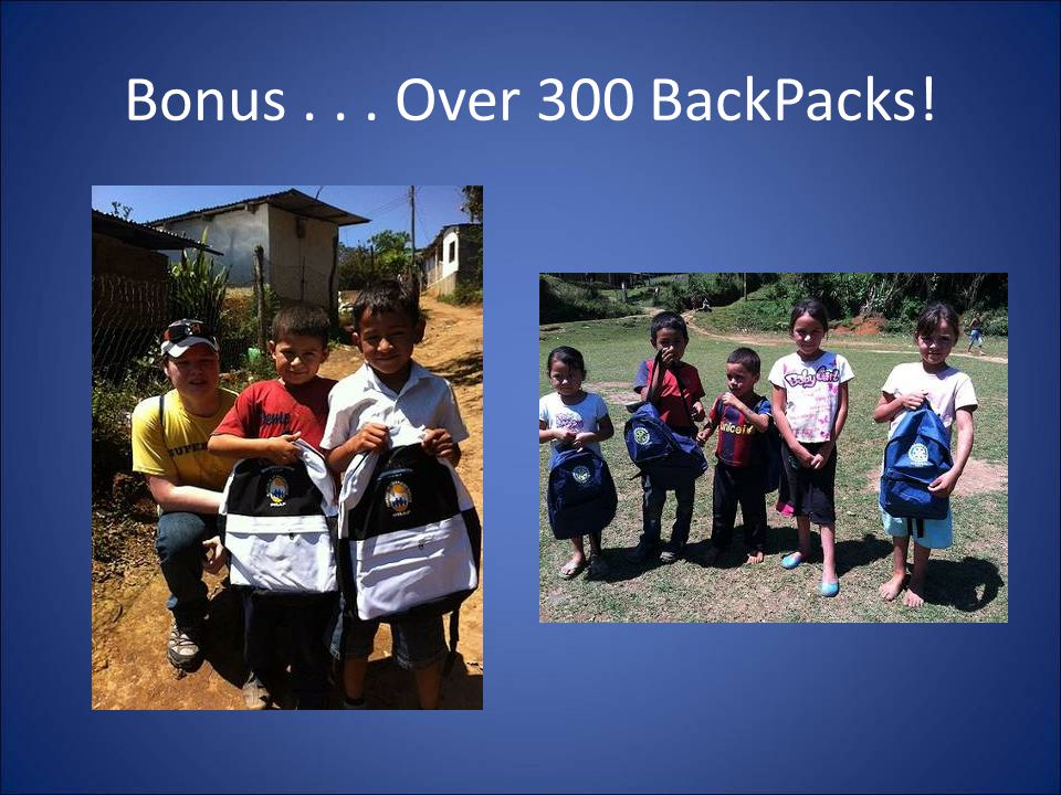 Bonus... Over 300 BackPacks!
