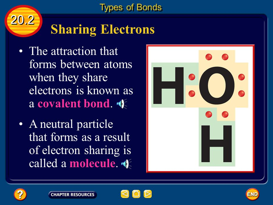 Sharing Electrons The loss of this many electrons takes a great deal of energy.