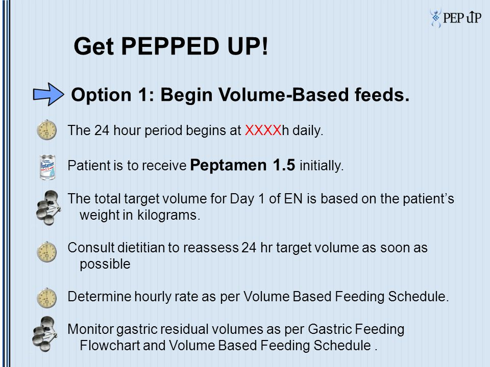Case Study Setting the 24 hour rate  At 0700 hours you will recalculate the hourly enteral feeding rate for the next 24 hours, or until he is reassessed at rounds.
