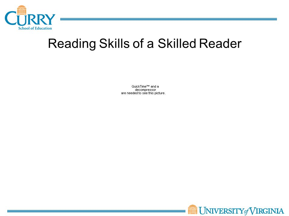 Reading Skills of a Skilled Reader