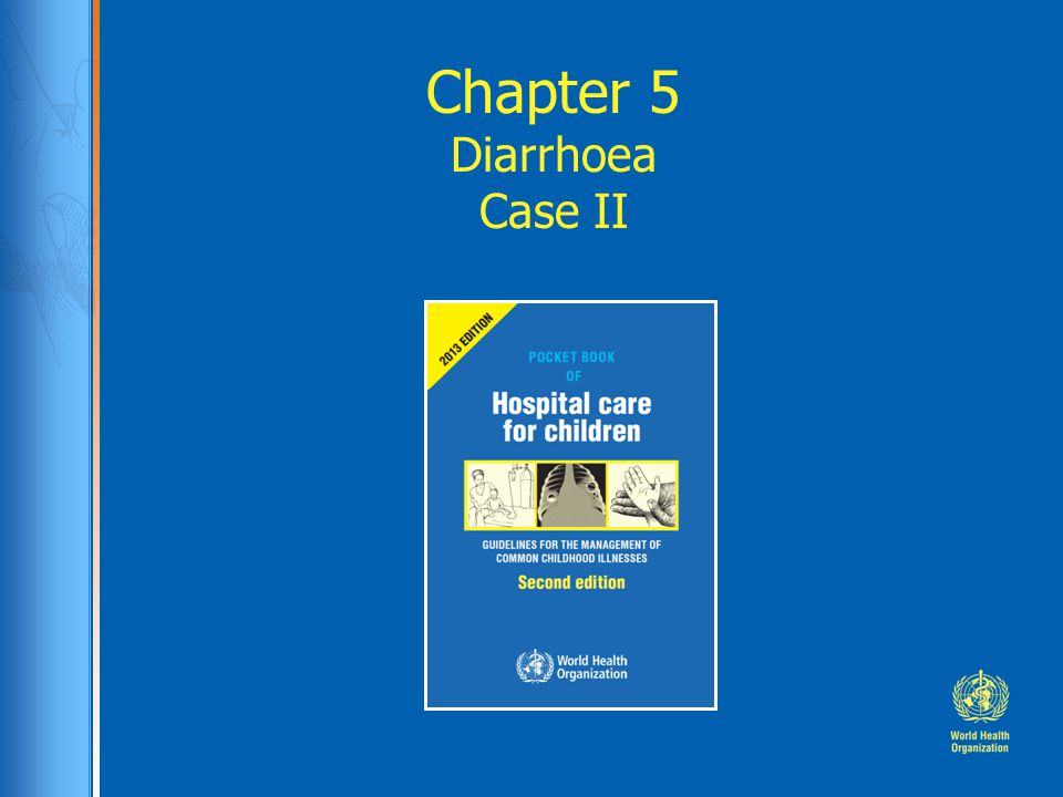Case study: Chandra Chandra, 2 year old presented from health clinic with 4 day history of profuse diarrhoea.
