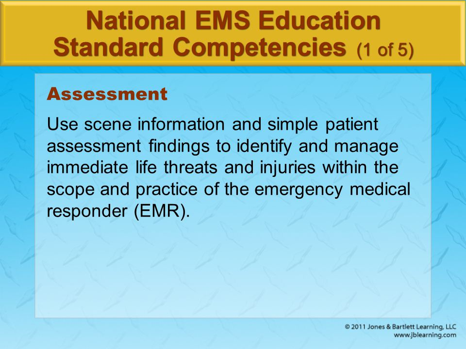 Credits Opener: Courtesy of Jason Pack/FEMA Background slide image (ambulance): © Comstock Images/Alamy Images Background slide images (non-ambulance): © Jones & Bartlett Learning.