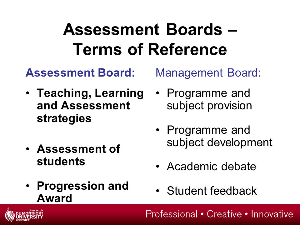 assessment and students