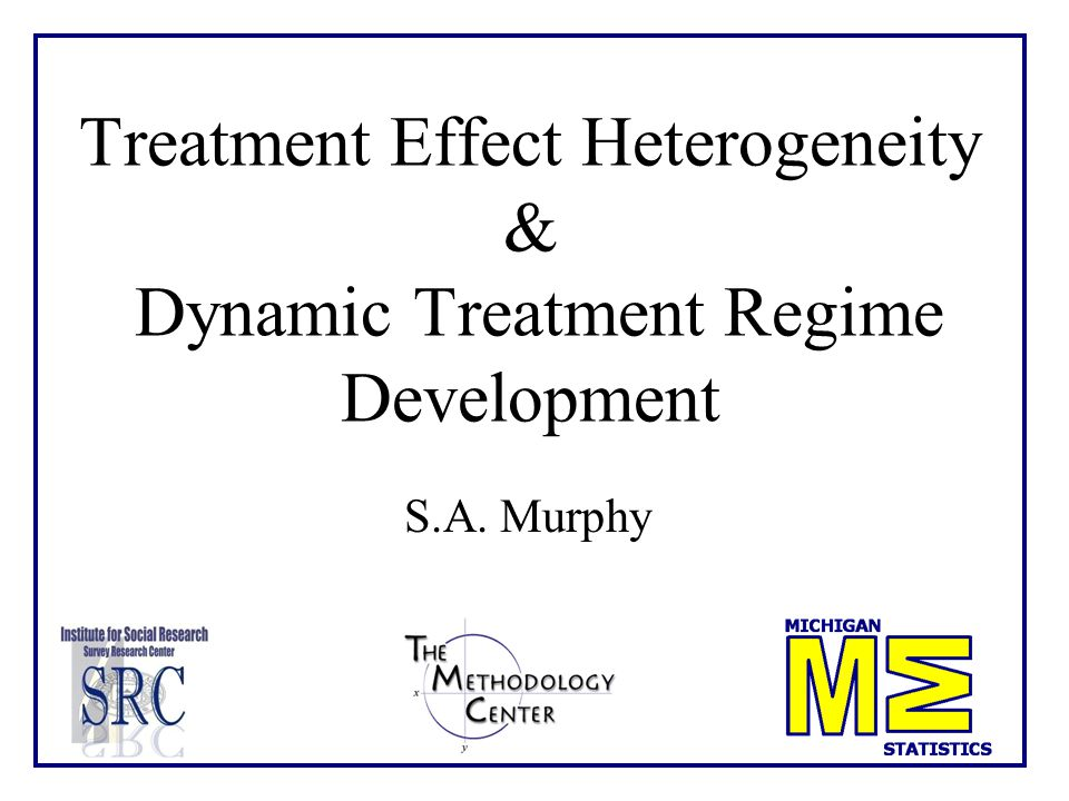 2 Dynamic treatment regimes (DTRs) are individually tailored treatments, with treatment type and dosage changing according to individual outcomes.