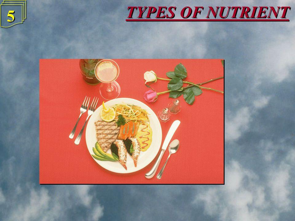 TYPES OF NUTRIENT 5 5