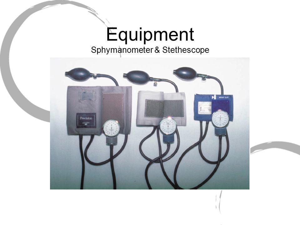 Equipment Sphymanometer & Stethescope