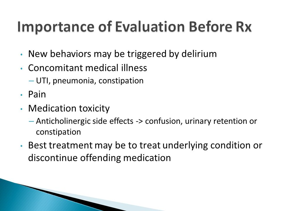  The classic principles apply  Low starting doses  Conservative dose titration  Extended intervals between dose increases  Continual reassessment of target symptoms and screening for medication side effects  Avoid adding another medication to treat a side effect