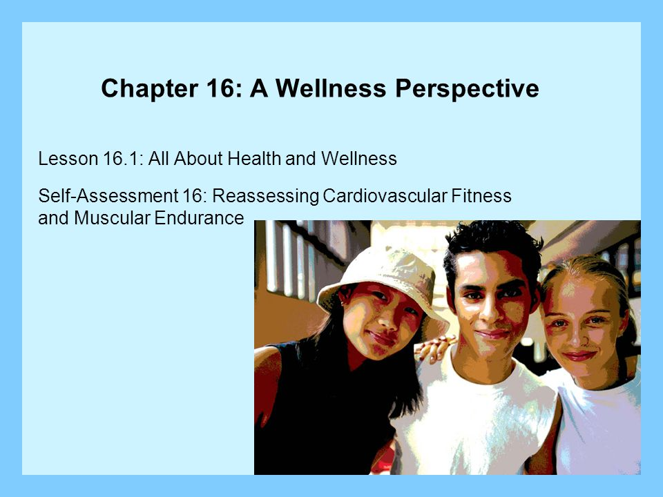 Lesson 16.1: All About Health and Wellness Lesson Objectives: Explain how wellness relates to good health.