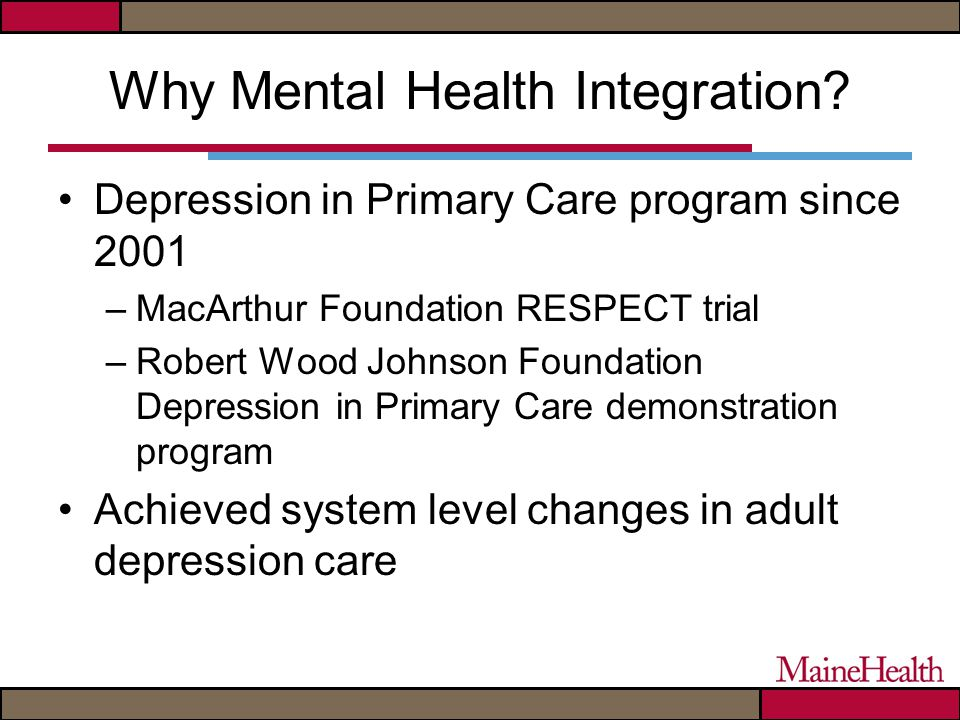 Why Mental Health Integration.