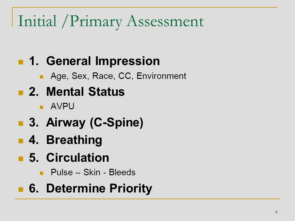 25 What next Health form  History http://videos.med.wisc.edu/videos/33744  Secondary Assessment: Detailed exam Focused exam  Ongoing exam