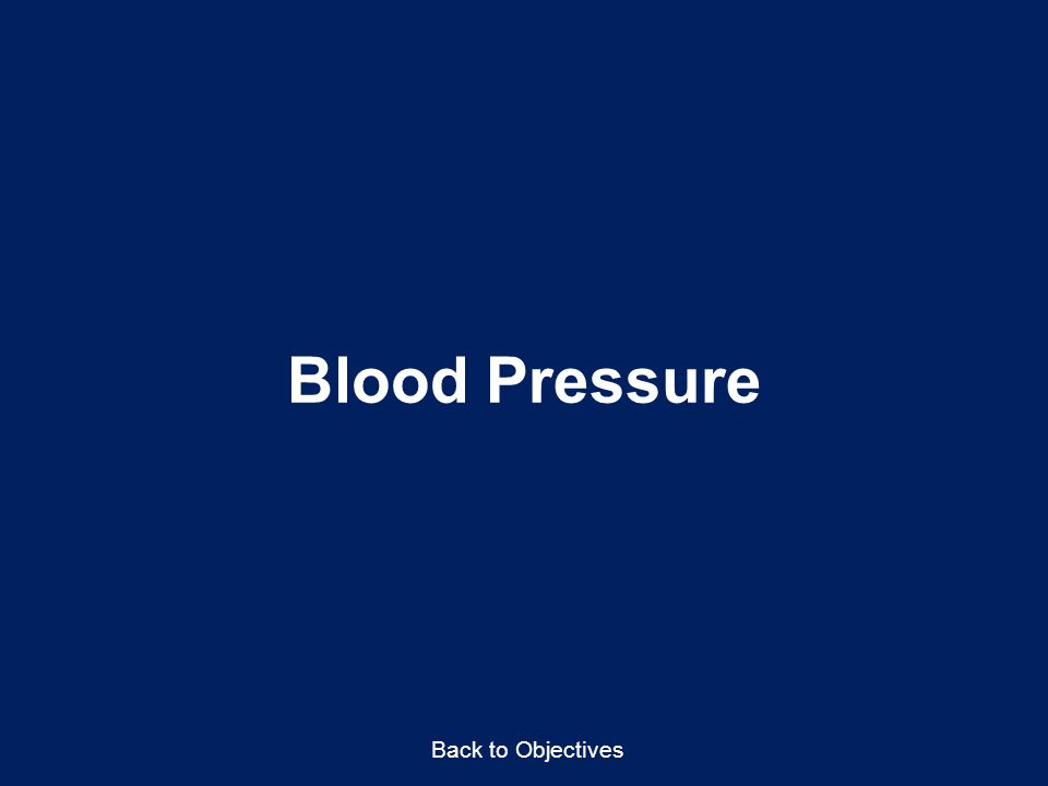 Blood Pressure Back to Objectives