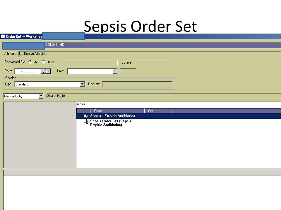 Sepsis Order Set