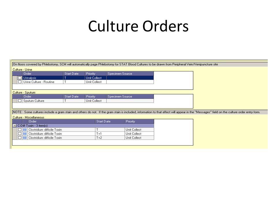 Culture Orders