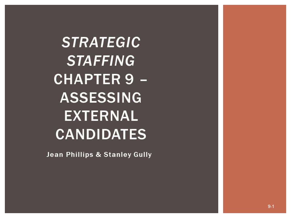 After studying this chapter, you should be able to:  Identify different external assessment goals.