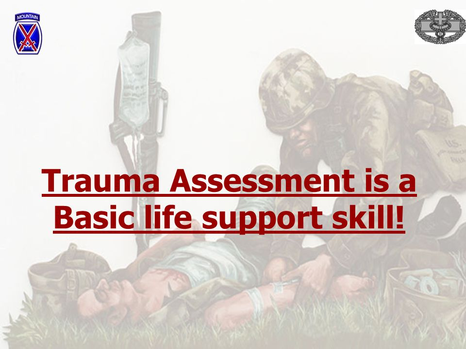 What is Trauma? A serious injury or shock to the body by violence or accident!