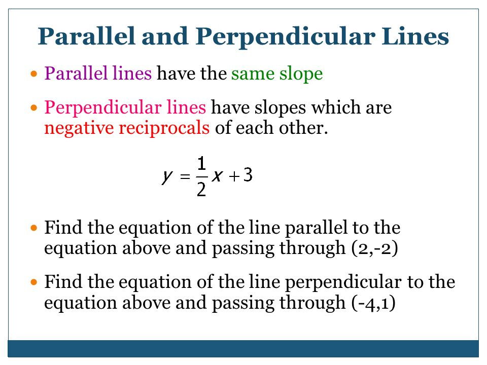 Standard 1.3: analyze graphs and make predictions based on linear functions (1-5) By the end of this lesson we will be able to answer… How can paralle